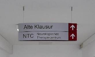 Ein Anwendungsbereich unserer Schilder als Wegeleitsystem